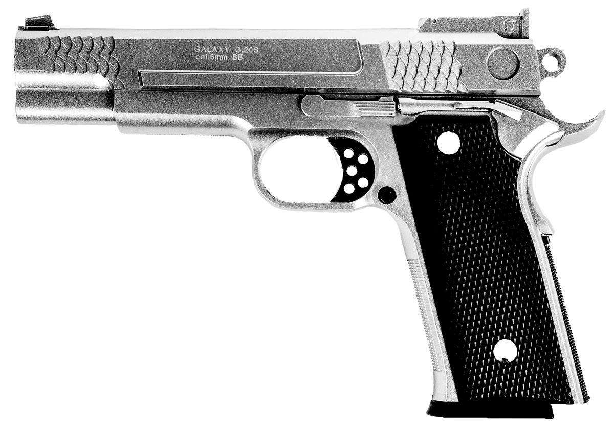 Пистолет софтэйр Galaxy G.20S, пружинный, 6 мм asg dan wesson 6 мм ускоритель заряжания 16186