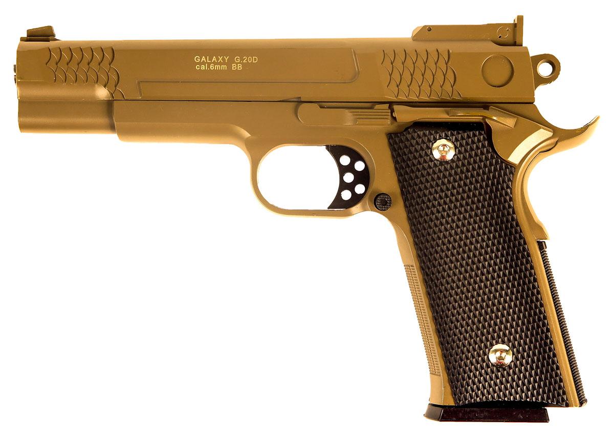 Пружинный пистолет G.20D является репликой известного пистолета Smith & Wesson 1911 .  Корпус пистолета цельнометаллический. В магазин вмещается 15 шариков BB 6 мм. Выстрел из  пистолета осуществляется с помощью пружины, максимальная начальная скорость выстрела не  более 50 м/с. Прицельные приспособления не регулируемые, пистолет предназначен для  стрельбы на короткие дистанции.