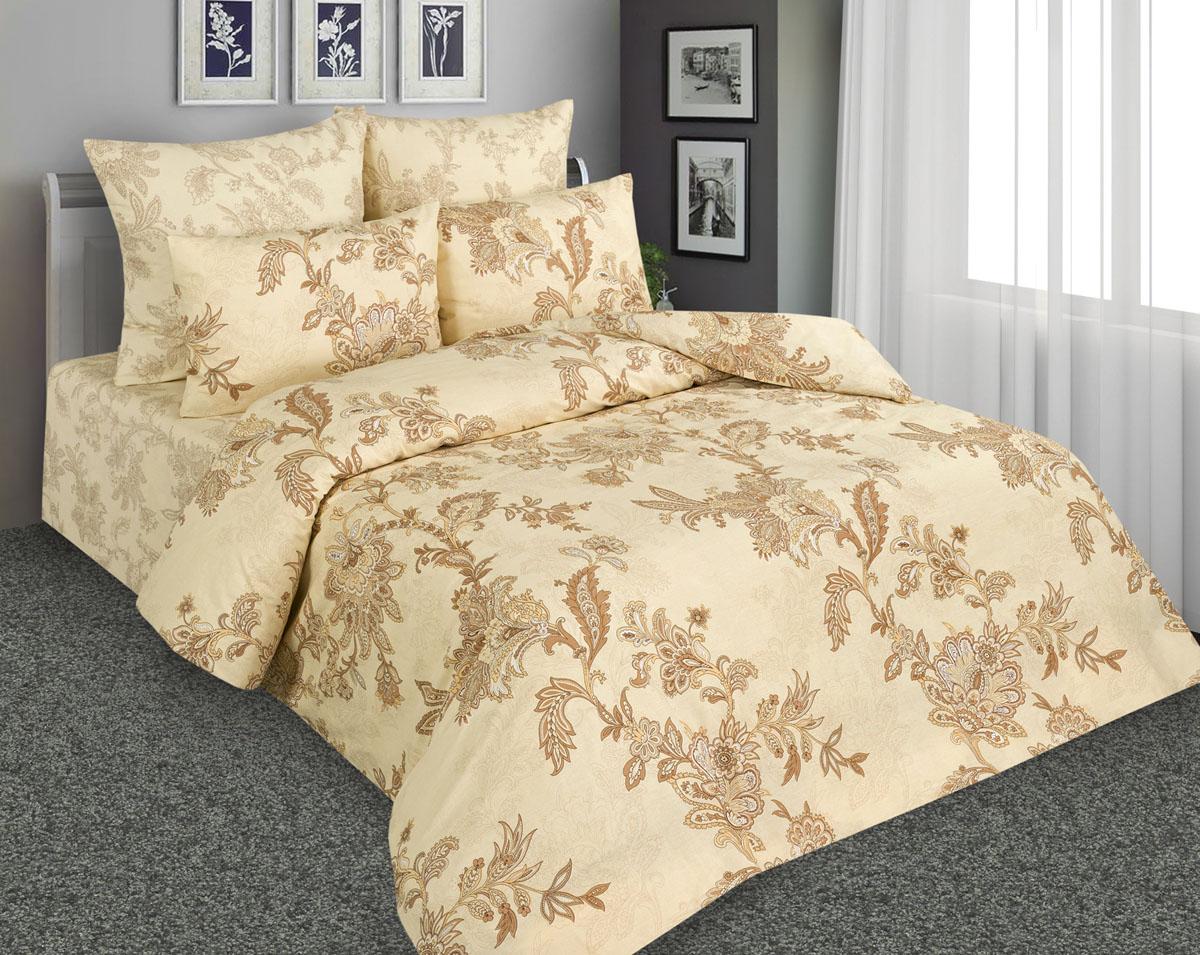 Комплект постельного белья Amore Mio, 1,5-спальный, наволочки 70х70, цвет: бежевый, коричневый. 8987789877Постельное белье Amore Mio из перкали - эксклюзивные дизайны, разработанные европейскими дизайнерами, воплощенные на плотной легкой ткани из 100% хлопка.
