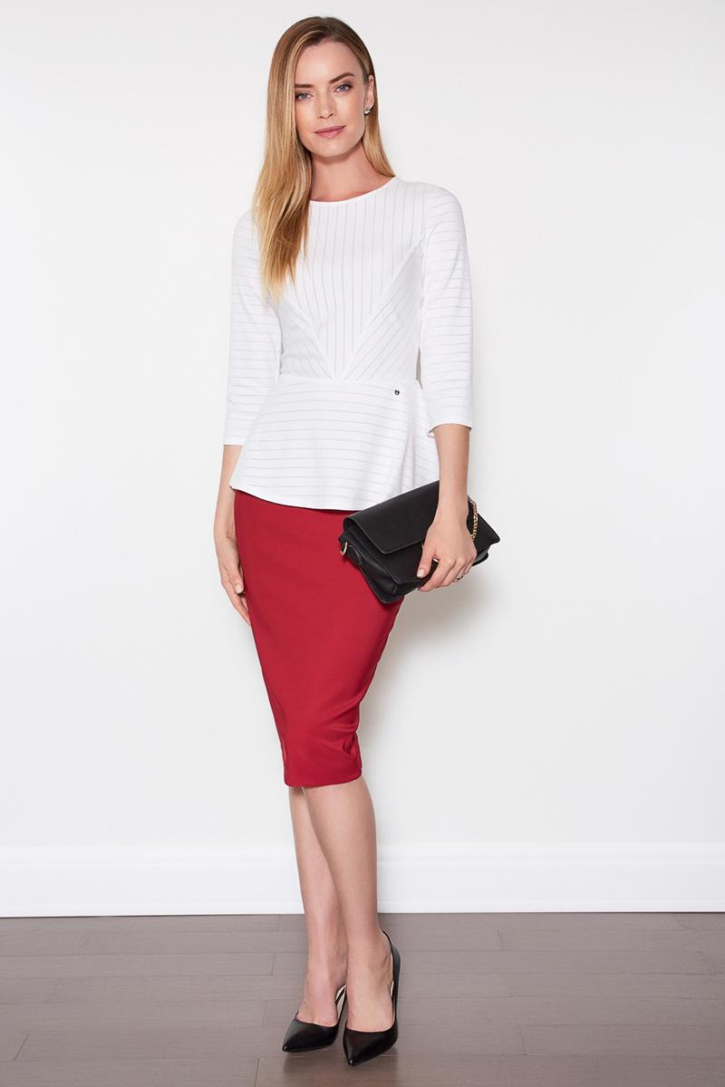 Джемпер женский Concept Club Gvin, цвет: белый. 10200100140. Размер L (48)10200100140
