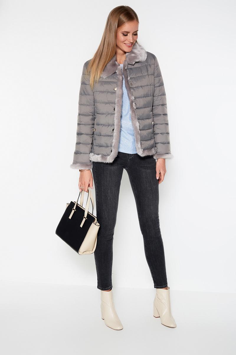 Куртка женская Concept Club Soe, цвет: серый. 10200130106. Размер M (46)