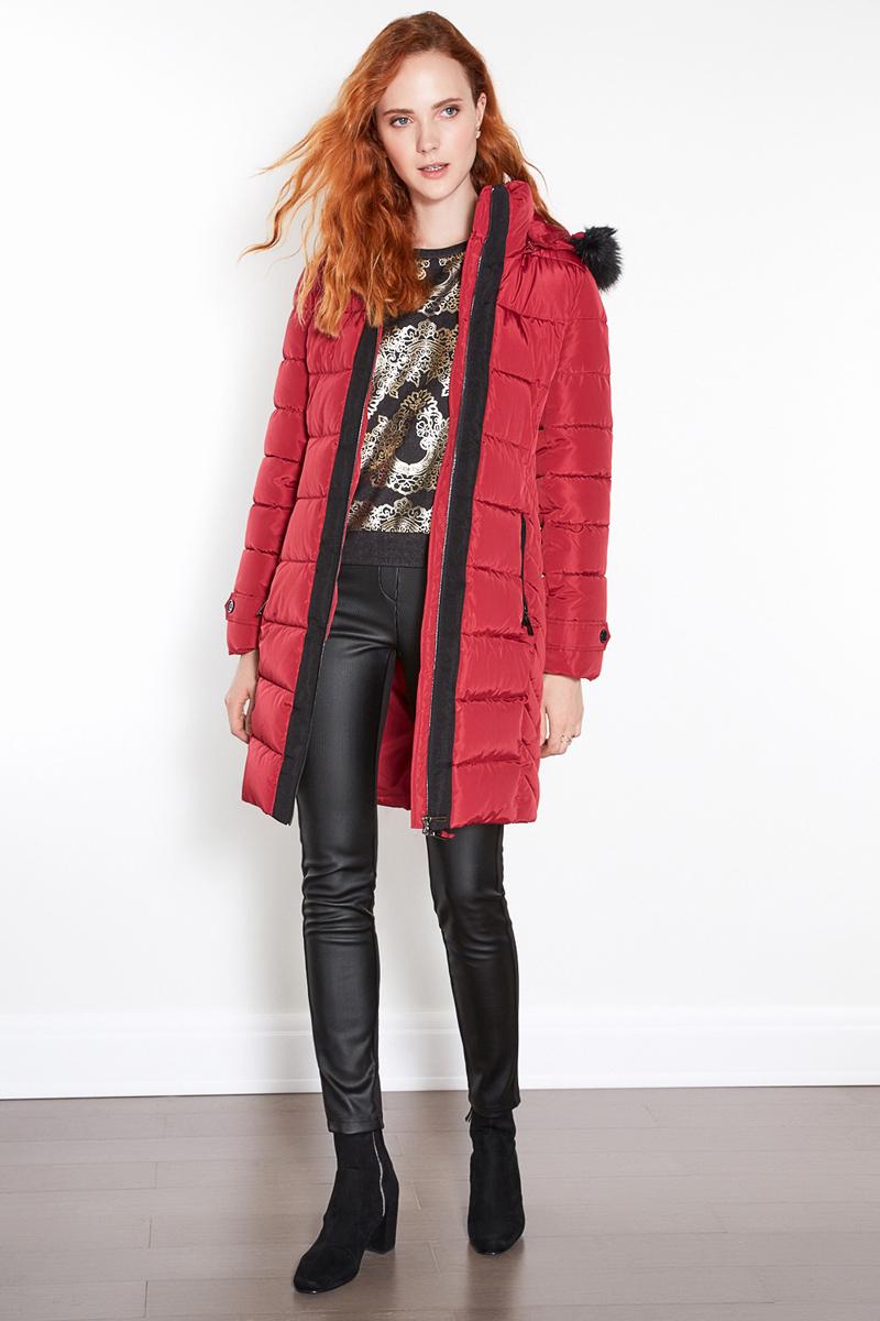 Пальто женское Concept Club Feri, цвет: бордовый. 10200610041. Размер L (48)10200610041