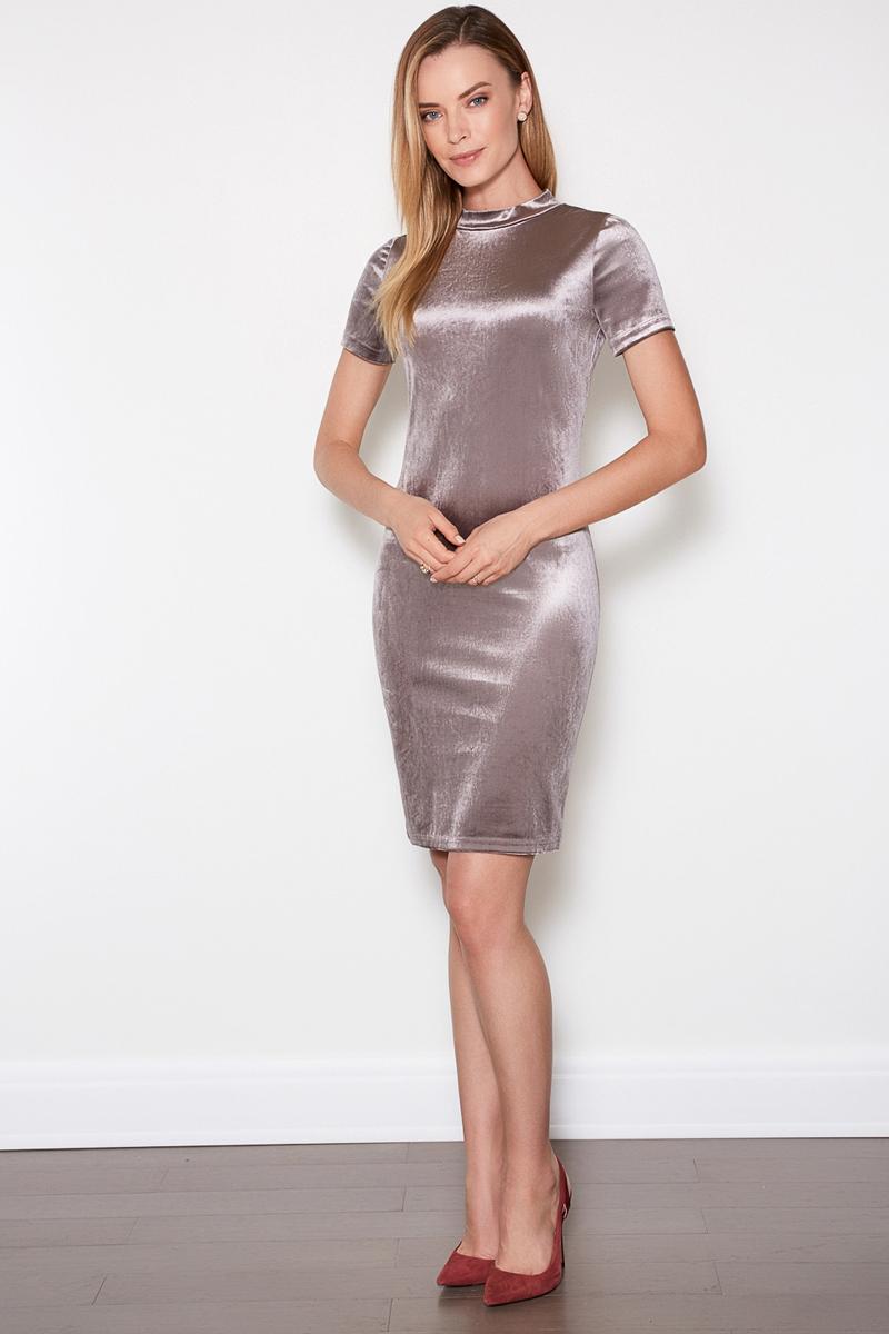 Платье женское Concept Club Barho, цвет: серый. 10200200355. Размер XS (42)10200200355Платье Concept Club исполнено из полиэстера с добавлением эластана. Имеет воротник - стойка и короткие рукава. Плотно садится по фигуре.