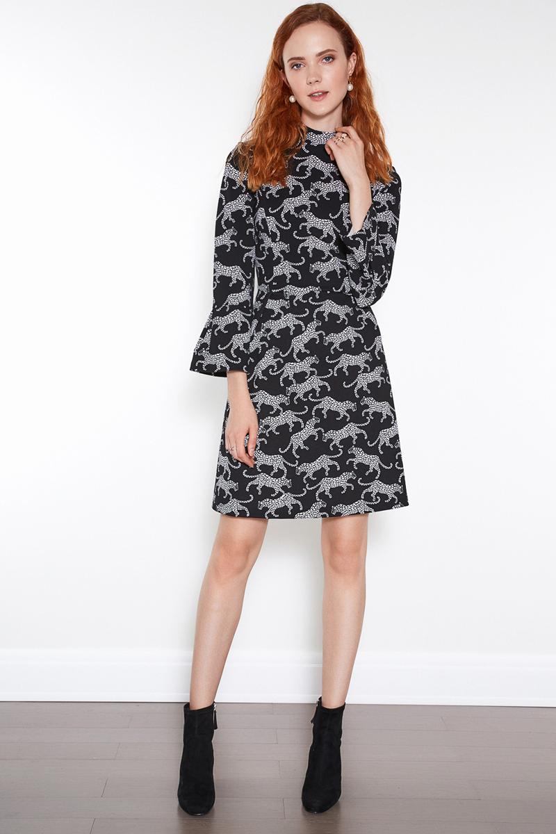 Платье женское Concept Club Nois, цвет: набивка. 10200200366. Размер XS (42)10200200366