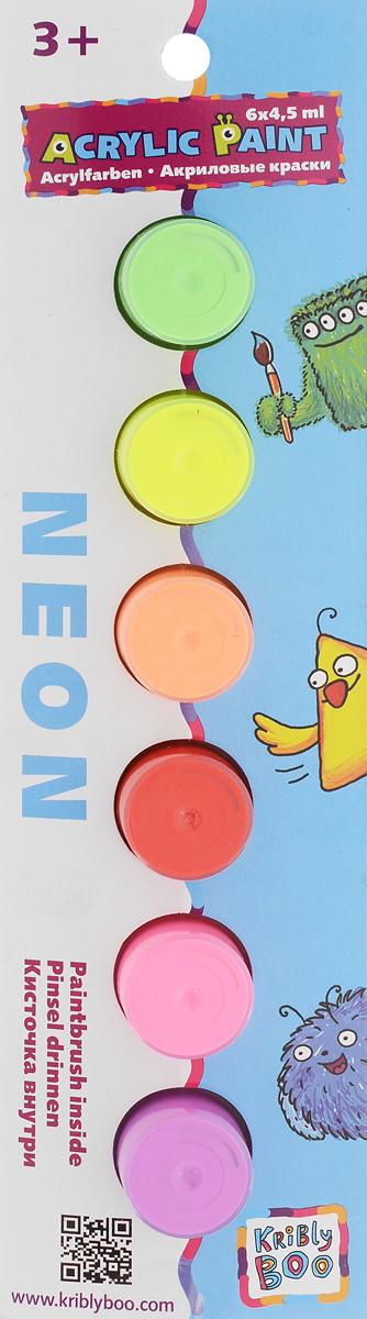 Kribly Boo Краски акриловые Неон 6 цветов60765