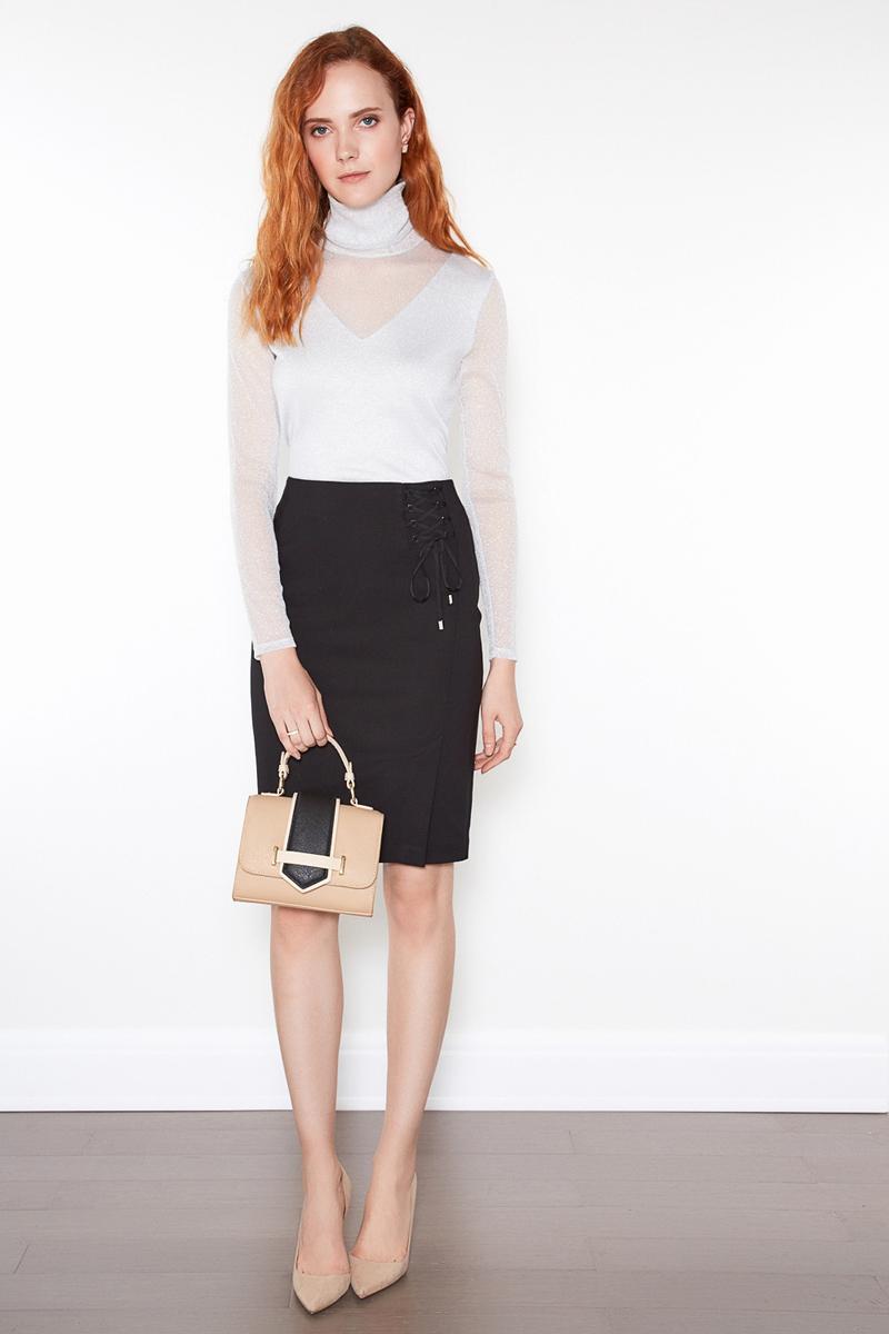 Юбка женская Concept Club Dode, цвет: черный. 10200180197. Размер M (46) юбка concept club vanya цвет черный 10200180223 100 размер m 46