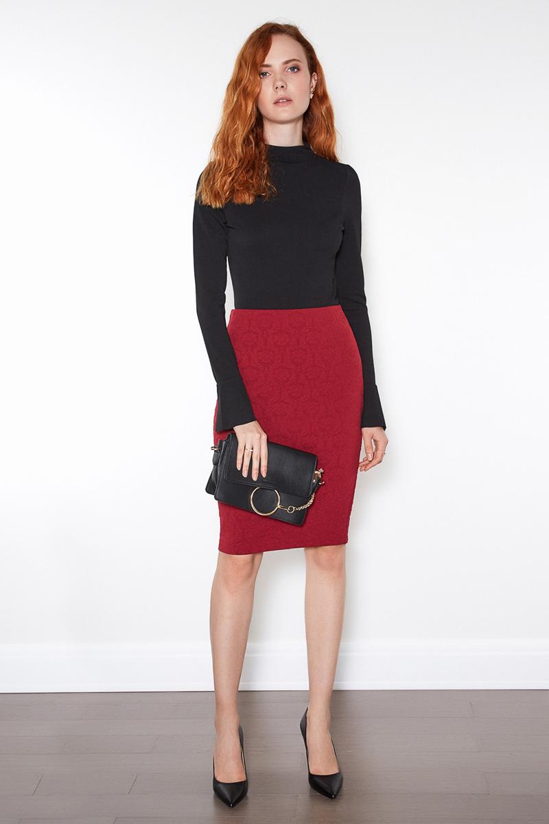 Юбка женская Concept Club Saga, цвет: бордовый. 10200180206. Размер S (44)10200180206