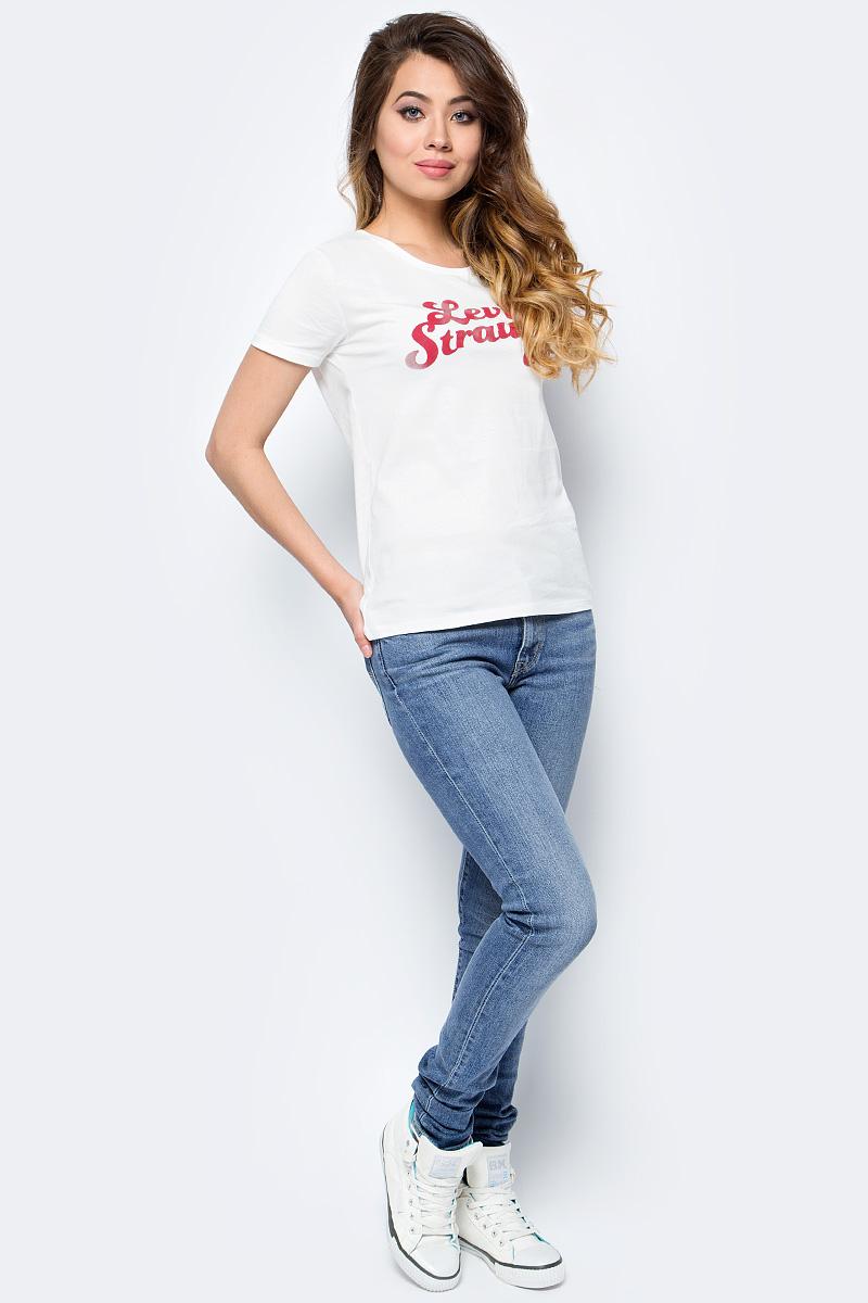 Футболка женская Levis®, цвет: белый. 2952600460. Размер XS (40/42)2952600460Модель сделана из мягкого трикотажа джерси и идеально подходит для повседневной носки.
