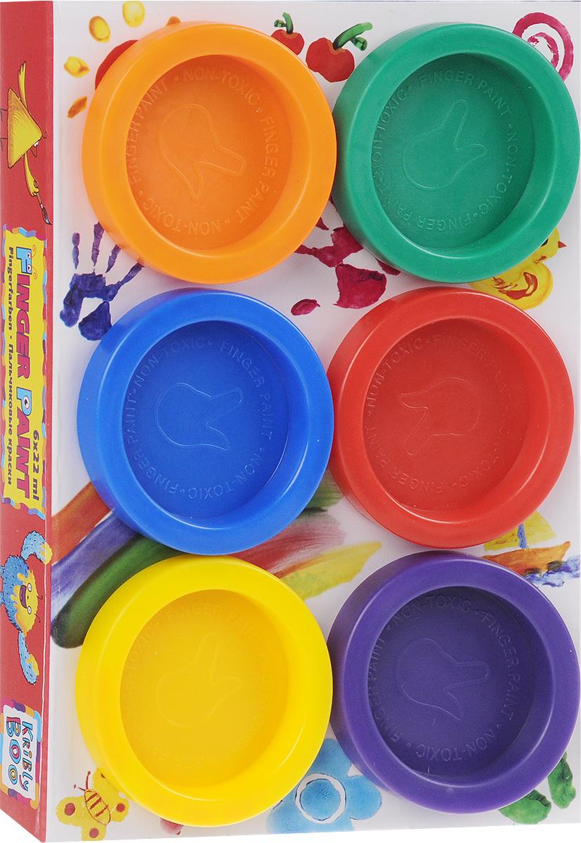 Kribly Boo Краски пальчиковые 6 цветов 6078260782