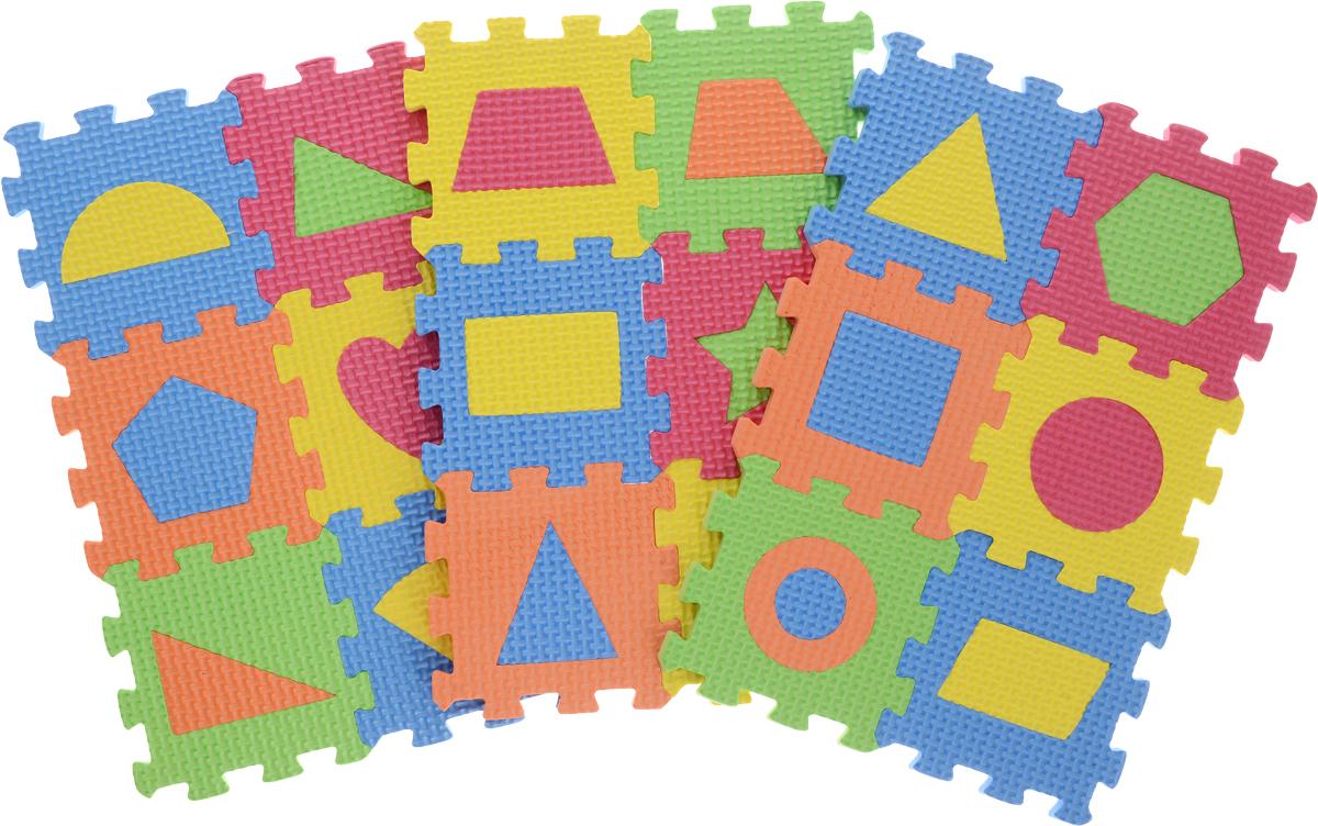 Kribly Boo Пазл для малышей с фигурами 62687 игровые коврики орто пазл напольное покрытие микс базовый
