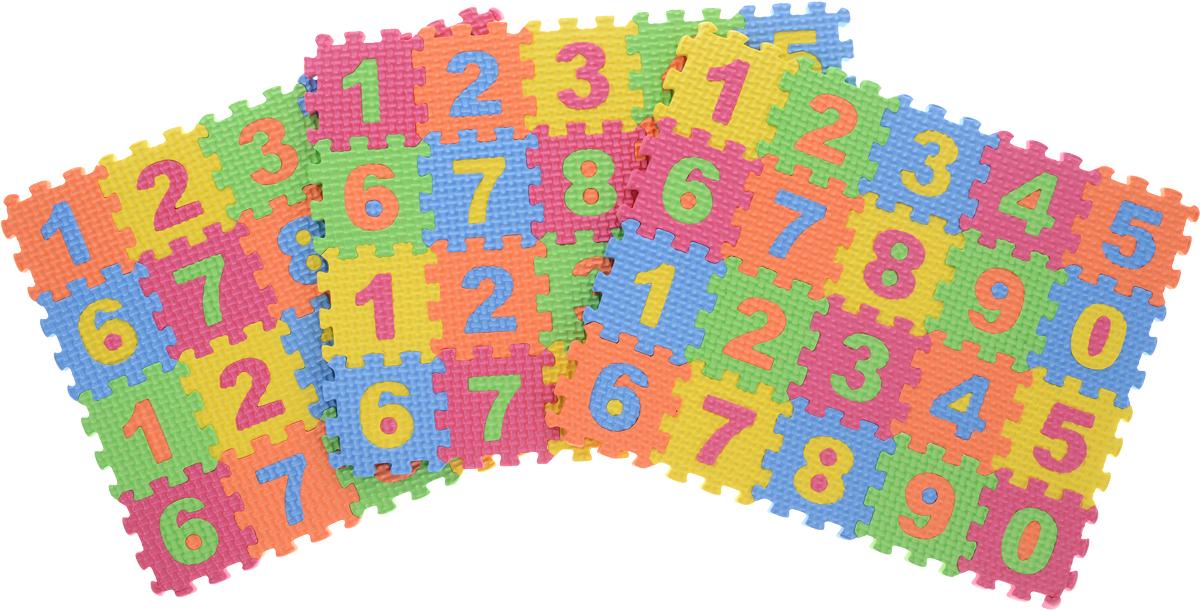 Kribly Boo Пазл для малышей с цифрами 62684 игровые коврики орто пазл напольное покрытие микс базовый