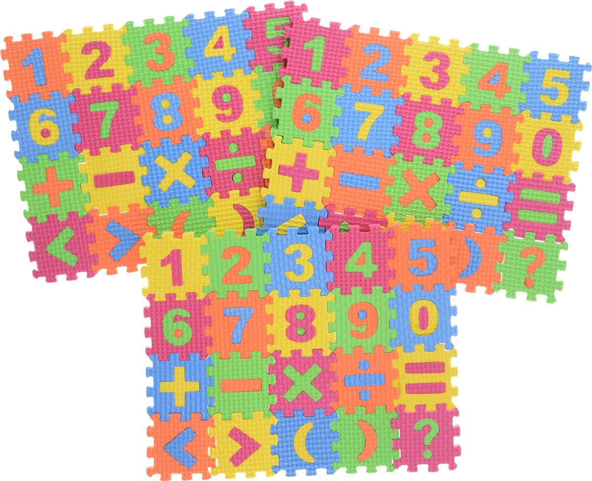 Kribly Boo Пазл для малышей с цифрами и знаками 62685 kribly boo набор раскрась динозавра светящийся в темноте