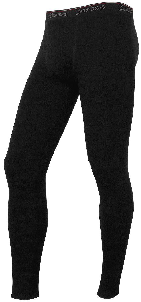 Кальсоны мужские Guahoo, цвет: черный. G22-9480P/BK. Размер S (48)G22-9480P/BKДвухслойная модель предназначена для повседневной носки в холодную и очень холодную погоду. Внешний слой с высоким содержанием шерсти прекрасно сохраняет тепло, придает мягкость и прочность изделию. Внутренний слой из полипропилена отводит влагу, придает прочность, предотвращает усадку и деформацию изделия.
