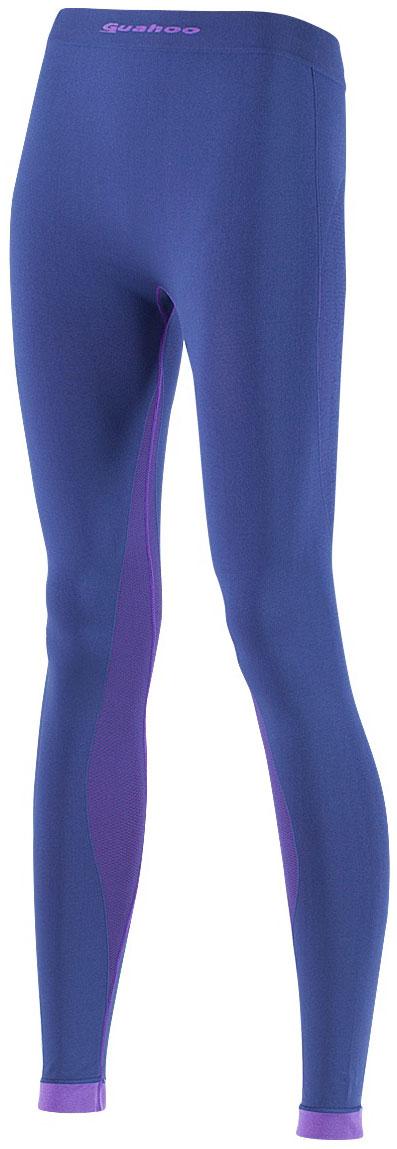 Панталоны женские Guahoo, цвет: синий, фиолетовый. G23-1601P/NV/VT. Размер XL/XXL (50/52)G23-1601P/NV/VTЛегкое термобелье для активных видов спорта прилегающего силуэта. Высокая эластичность материала и использование бесшовной технологии обеспечивают комфорт во время движения. Модель многозональна — разделена на функциональные зоны с учетом анатомии тела. Антибактериальная отделка материала позволяет дольше сохранять свежесть и предотвращает появление неприятных запахов. Температурные условия: всесезонная. Физическая активность: высокая. Состав: 66% полиэстер, 29% полиамид, 5% эластан