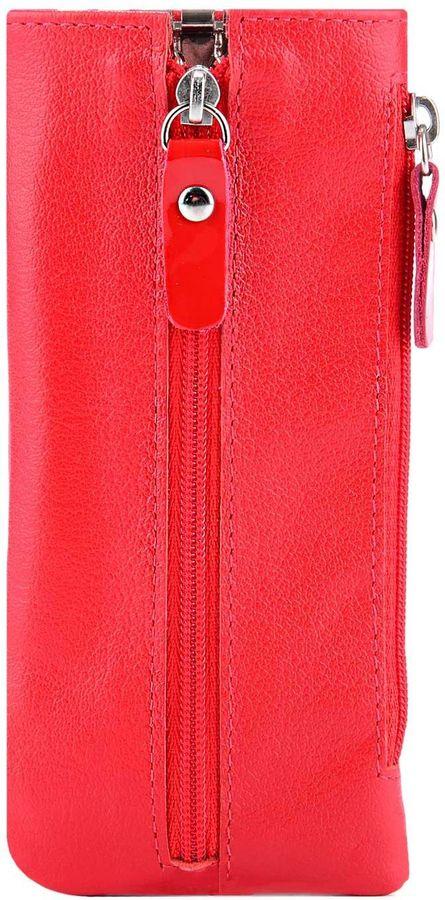 Ключница женская Esse Грета, цвет: красный. GGRT00-00ML00-D6604O-K101Натуральная кожаФункциональная ключница Esse изготовлена из натуральной кожи. Закрывается на молнию. Внутри имеет 6 крючков-карабинов для крепления ключей. Сбоку дополнительный карман на молнии.