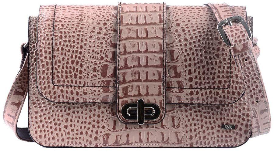 Сумка женская Esse Матри, цвет: светло-коричневый. GMTR5U-00ZF09-F8814O-K1005019890Стильная сумочка через плечо, жесткой конструкции изготовлена из натуральной кожи. Очень удобная, легкая и практичная модель станет ярким дополнением вашего образа. Модель легко комбинируется со многими элементами одежды в разных стилях и станет идеальным аксессуаром на каждый день. Сумочка закрывается клапаном на поворотный замок. Внутри карман на молнии для документов и открытый карман для мелочей. Длина плечевого ремня регулируется.