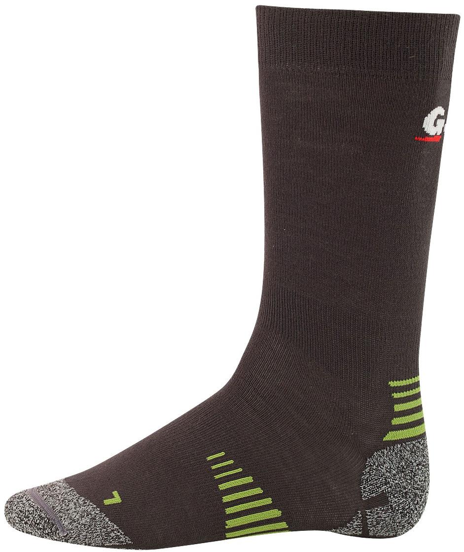 Термоноски Guahoo, цвет: темно-серый. 52-0933 - CW / DGY. Размер M (39/41)52-0933 - CW / DGYЛегкие треккинговые термоноски обеспечивают оптимальный для ног микроклимат. Ступня имеет специальную поддержку при ходьбе. Свод стопы и зона щиколотки имеют специальную эластичную поддержку. Плоский шов на мыске обеспечивает дополнительный комфорт и предотвращает натирание. Dri release обеспечивает отличную терморегуляцию и препятствует возникновению неприятного запаха. Левый и правый анатомический дизайн.