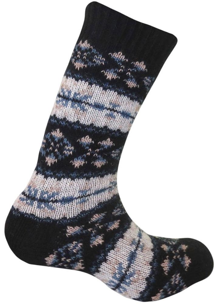 Термоноски Guahoo, цвет: синий. G52-8103CW/BL. Размер 39/42G52-8103CW/BLВысокие шерстяные носки плотной вязки дополнены широкой комфортной резинкой. Высокое содержание шерсти в составе делает модель оптимальной для длительного ношения в холодную и очень холодную погоду, полиамид позволяет сохранить ноги сухими даже при средних физических нагрузках, а эластан увеличивает износостойкость изделия. Уютные носки с ретро-узорами могут стать теплым подарком родным и близким.