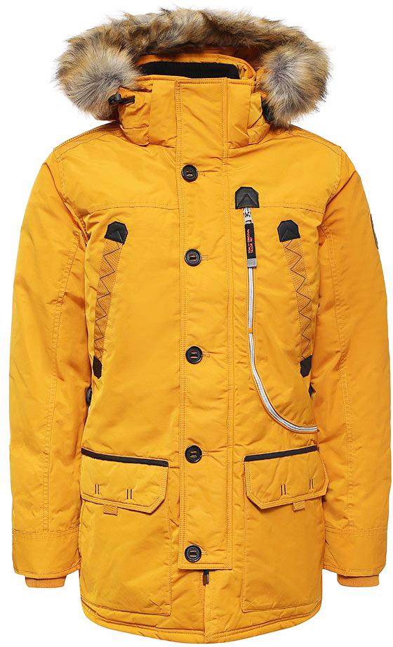 Куртка мужская Tom Tailor, цвет: желтый. 3533479.00.10_3622. Размер XL (52)3533479.00.10_3622Стильная мужская куртка Tom Tailor изготовлена из высококачественного полиэстера. В качестве утеплителя используется полиэстер. Модель с капюшоном, оформленным искусственным мехом, застегивается на застежку-молнию и дополнительно ветрозащитным клапаном на пуговицы. Спереди расположены карманы.