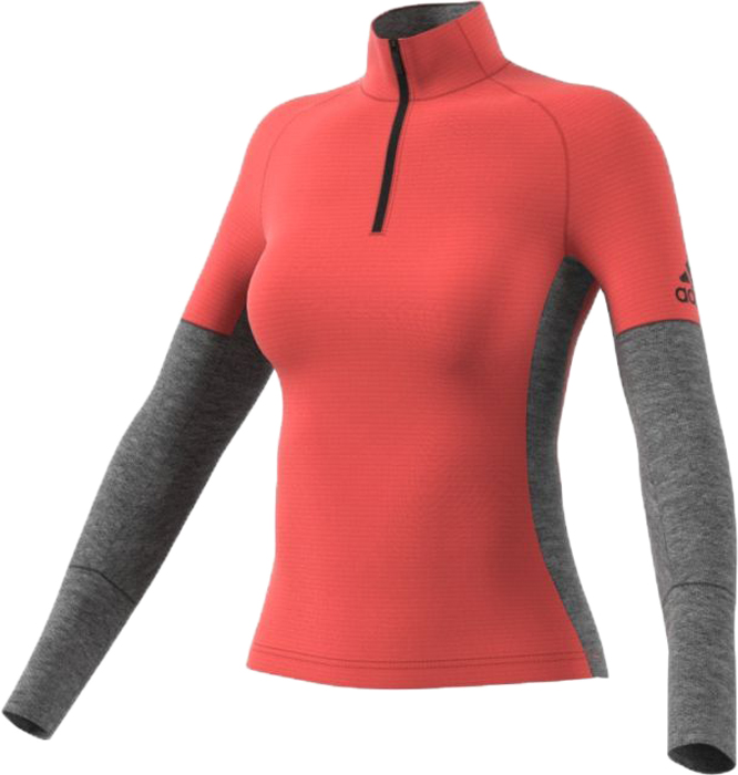 Лонгслив женский adidas Xpr Ac Top W, цвет: оранжевый, серый. BP8984. Размер 34 (42)BP8984Лонгслив из функциональных материалов для различных видов спорта. Технология ClimaWarm сохранит тело в сухости и сохранит тепло во время тренировок. Эластичный материал обеспечит свободу передвижения