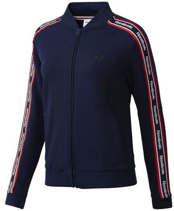 Толстовка женская Reebok F Coach Jacket цвет синий BR7278 Размер L 5052