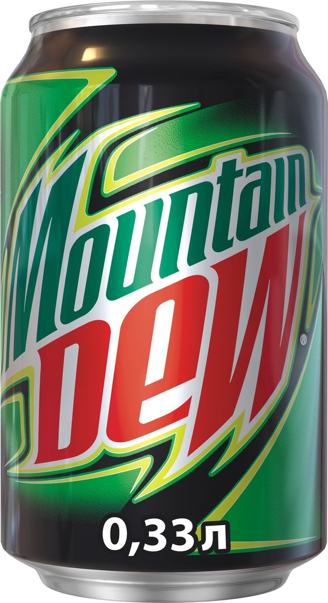 Mountain Dew Цитрус напиток сильногазированный, 0,33 л340007085Напиток с цитрусовым вкусом и с добавлением кофеина. Заряжает энергией и утоляет жажду.О бренде:Mountain Dew был изобретен в 1940 году и сейчас является самым популярным цитрусовым газированным напитком в США.