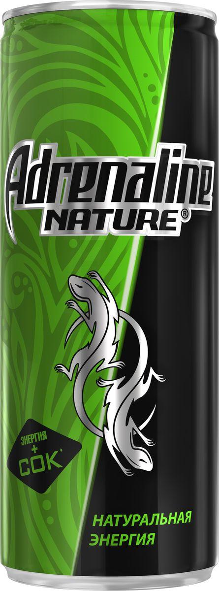 Adrenaline Nature энергетический напиток, 0,25 л340022235Энергетический напиток Adrenaline Nature Натуральная Энергия обеспечит прилив сил. В чем уникальность формулы? Adrenaline Nature Натуральная Энергия производится с использованием натуральных ингредиентов: экстракт гуараны и натуральный кофеин.