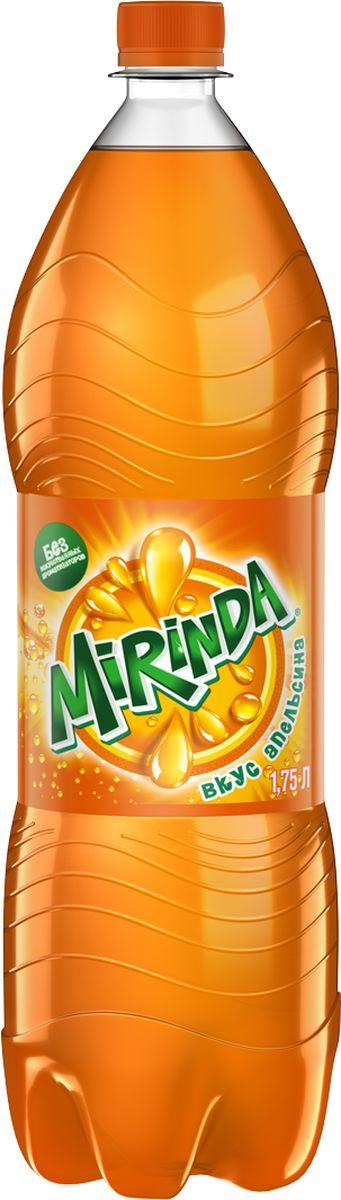 Mirinda Апельсин напиток сильногазированный, 1,75 л hulala напиток миндальный с сахаром ультравысокопастеризованный со вкусом и ароматом фисташек 1 кг