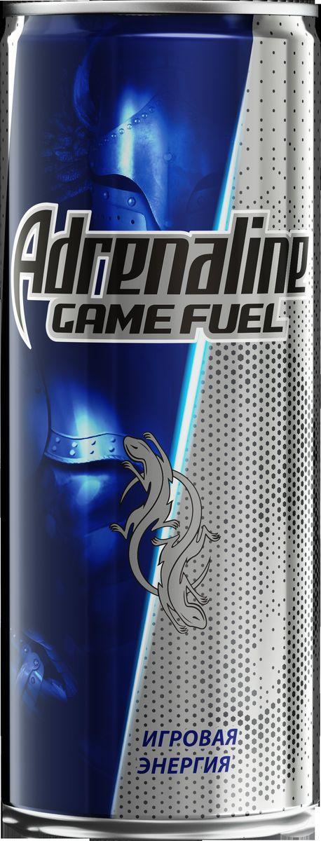 Adrenaline Game Fuel энергетический напиток, 0,25 л340027988Энергетический напиток Adrenaline Game Fuel с комплексом эффективных тонизирующих ингредиентов, специально созданный для любителей киберспорта. Во время активных онлайн-соревнований необходимо быть собранным и быстро принимать решения.