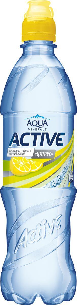Aqua Minerale Active Цитрус напиток негазированный, 0,6 л aqua minerale вода газированная питьевая 1 5 л
