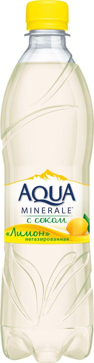 Aqua Minerale с соком Лимон напиток негазированный, 0,6 л aqua minerale вода газированная питьевая 1 5 л