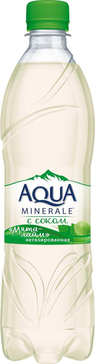Aqua Minerale с соком Лайм-Мята напиток негазированный, 0,6 л aqua minerale с соком лимон напиток негазированный 0 6 л