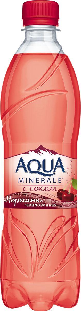 Aqua Minerale с соком Черешня напиток среднегазированный, 0,6 л aqua minerale с соком лимон напиток негазированный 0 6 л