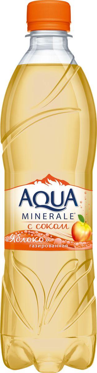Aqua Minerale с соком Яблоко напиток среднегазированный, 0,6 л aqua minerale с соком лимон напиток негазированный 0 6 л