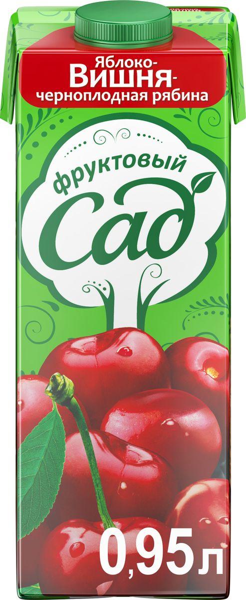 Фруктовый Сад Яблоко-Вишня-Черноплодная рябина осветленный нектар, 0,95 л340024858Освежающий вкус с легкой приятной кислинкой! Сделан из ароматной спелой сочной вишни, черноплодки и спелого яблока! О бренде:Фруктовый сад - один из крупнейших производителей соков и нектаров на российском рынке. Ассортимент бренда представлен большим разнообразием вкусов, которые нравятся взрослым и детям. Выберите свой вкус для всей семьи!