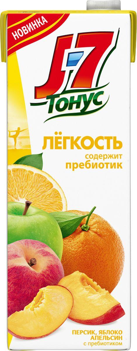 J-7 Тонус Апельсин-Яблоко-Персик нектар с мякотью 1,45 л j 7 frutz апельсин напиток сокосодержащий с мякотью 0 385 л