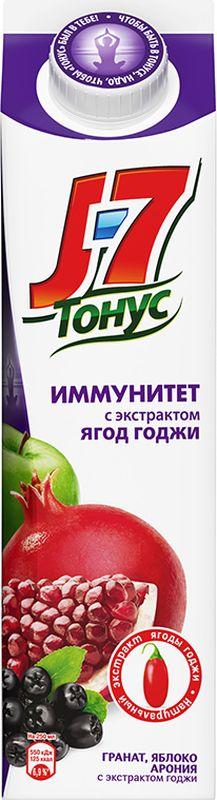 J-7 Тонус Яблоко-Гранат-Черноплодная рябина-Годжи нектар 0,9 л годжи ягоды молотые 100гр organic