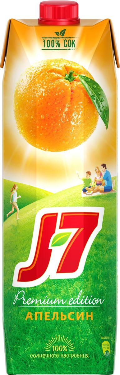 J-7 Апельсин сок с мякотью, 0,97 л добрый pulpy апельсин напиток сокосодержащий с мякотью 0 9 л
