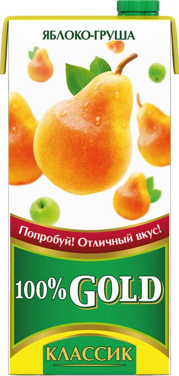 100% Gold Классик Яблоко-Груша напиток сокосодержащий осветленный, 0,95 л креатины qnt креатин creatine monohydrate 100