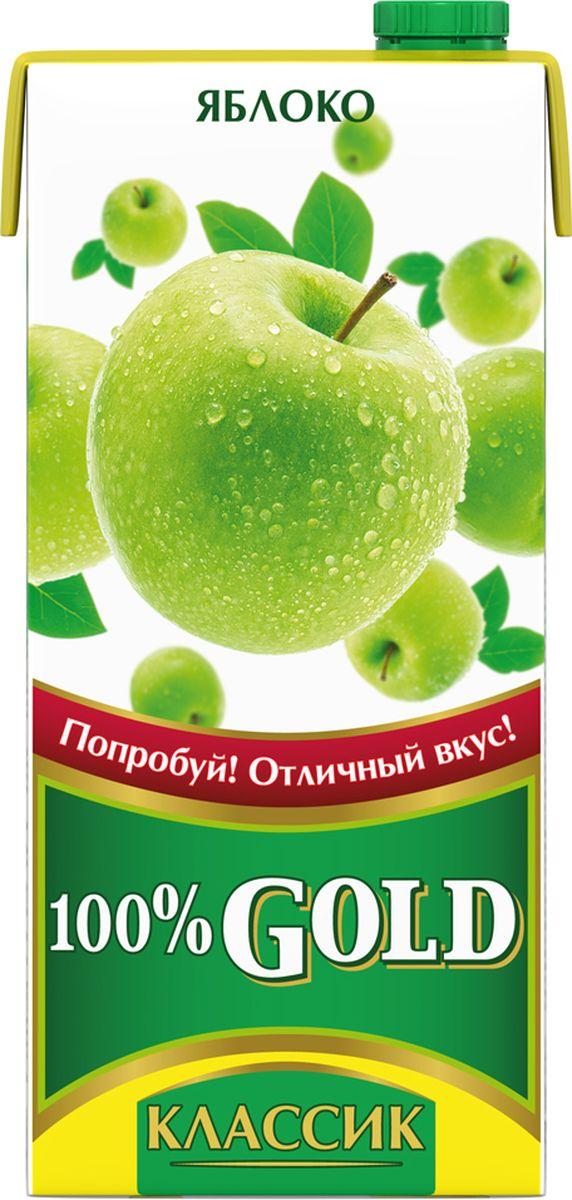 100% Gold Классик Яблоко напиток сокосодержащий, 0,95 л lorado персики половинки в легком сиропе 850 мл