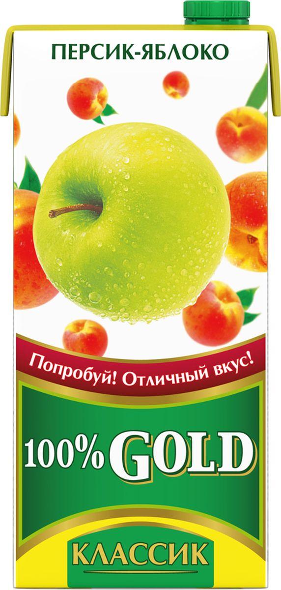 100% Gold Классик Персик-Яблоко напиток сокосодержащий, 0,95 л j 7 frutz апельсин напиток сокосодержащий с мякотью 0 385 л