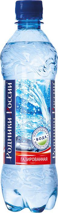 Родники России вода минеральная природная столовая газированная, 0,5 л сан бенедетто вода негазированная минеральная природная питьевая столовая 1 л стекло
