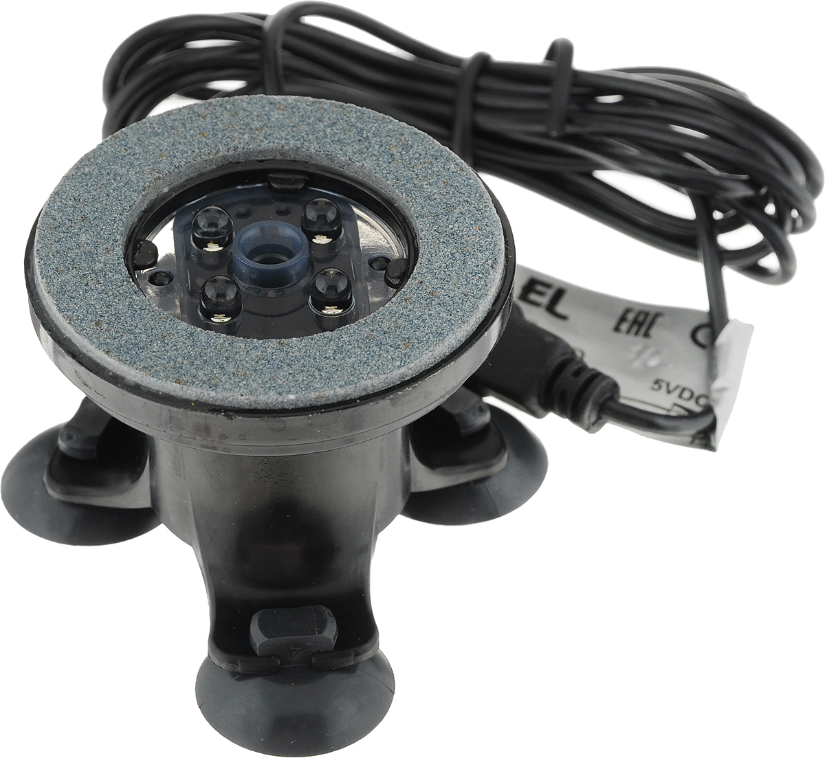 Распылитель воздуха для аквариума Aquael Air Lights Led, с подсветкой, 1 Вт110341Aquael Air Lights Led – оригинальный распылитель в виде подводной декорации, оснащенный светодиодами. Внешний вид Aquael Air Lights Led имитирует естественные скальные образования. Внутри находится модуль с четырьмя диодами высокой яркости.В комплекте имеются три набора цветных насадок: красные, синие и зеленые. При использовании этих фильтров пузырьки воздуха, выплывающие из скалы, приобретают насыщенный цвет, выбранный вами, и создают мягкое, загадочное освещение внутри аквариума. Особенно сильный декоративный эффект достигается вечером и ночью, после отключения основного освещения в аквариуме.Так как кислород рыбам особенно необходим ночью, то с помощью Aquael Air Lights Led вы сможете превратить аквариум в оригинальный ночной светильник.Кроме декоративных качеств Aquael Air Lights Led выполняет одновременно все функции обычного компрессора. Большое количество мелких пузырьков увеличивает содержание в воде растворенного кислорода, как в результате непосредственного проникновения воздуха из пузырьков, так и в результате усиленного движения воды у поверхности и увеличения площади ее соприкосновения с атмосферным воздухом.Правильно подобранная структура распылителя защищает его от засорения и гарантирует продолжительную, бесперебойную работу без необходимости очистки.Уважаемые покупатели!Обращаем ваше внимание на тот факт, что воздушный компрессор и декоративная скала в комплект не входят и приобретаются отдельно.Мощность: 1 Вт.Тип ламп: Led.