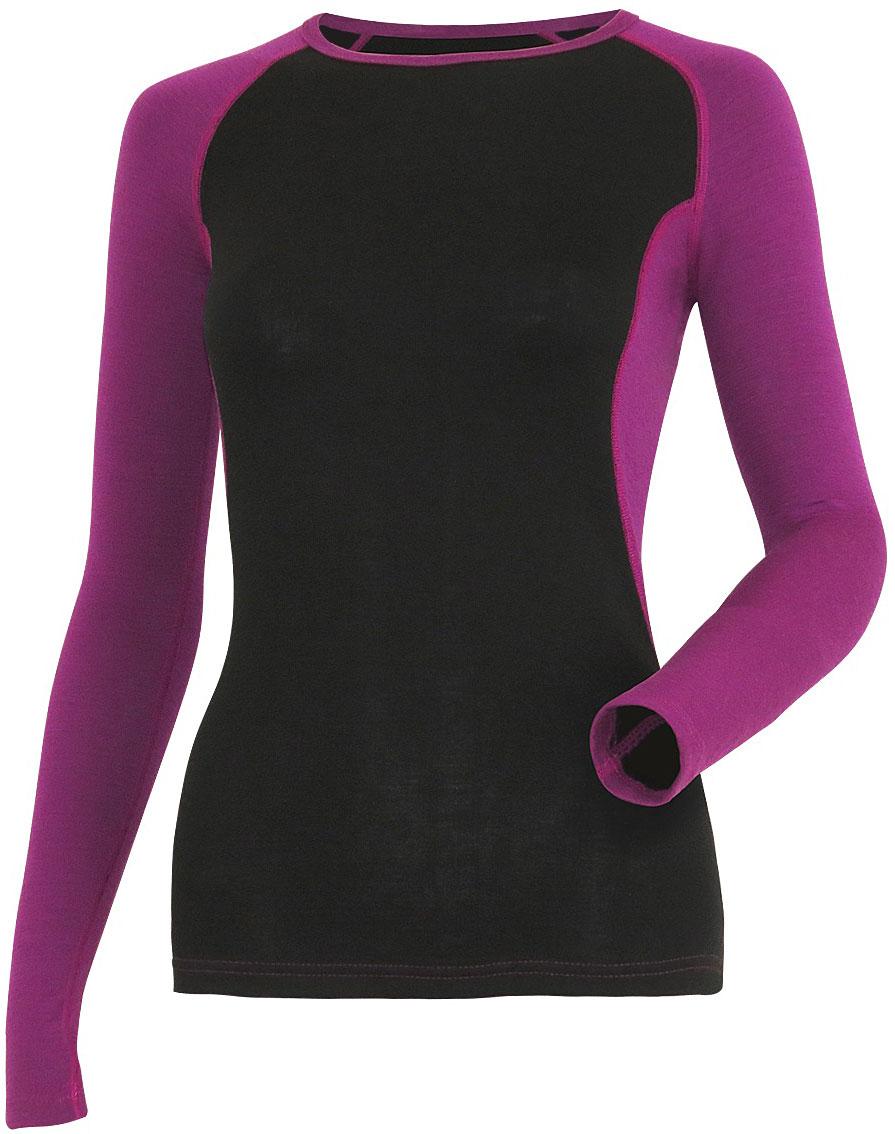 Фуфайка женская Guahoo, цвет: черный. G22-9481S/BK-LC. Размер S (44)G22-9481S/BK-LCДвухслойная модель предназначена для повседневной носки в холодную и очень холодную погоду. Внешний слой с высоким содержанием шерсти прекрасно сохраняет тепло, придает мягкость и прочность изделию. Внутренний слой из полипропилена отводит влагу, придает прочность, предотвращает усадку и деформацию изделия.