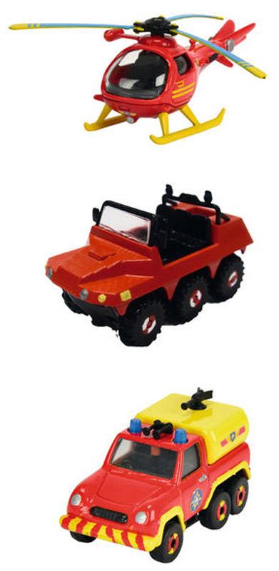 Dickie Toys Набор пожарной техники с вертолетом 3 шт dickie toys игровой набор маяк