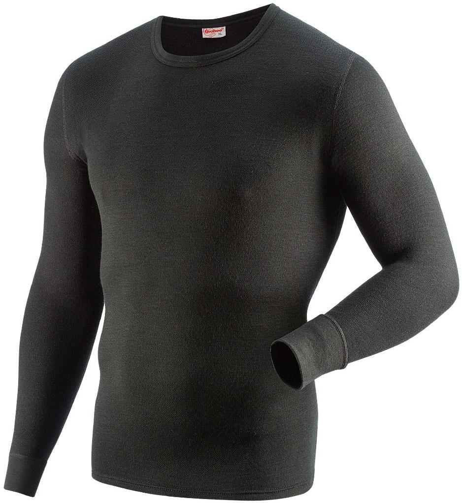 Фуфайка мужская Guahoo, цвет: черный. 21-0460 S / BK. Размер 3XL (58)21-0460 S / BKМодель из двухслойного полотна предназначена для повседневного использования в холодную и очень холодную погоду. Идеальное сочетание различных видов пряжи с добавлением натуральной шерсти во внешнем слое, а также специальное плетение обеспечивают эффективное сохранение тепла. Начес на внутренней стороне полотна хорошо сохраняет тепло за счет воздушной прослойки.