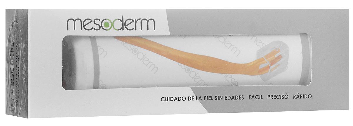 Mesoderm Мезороллер для области вокруг глаз, модель E-008424208Дисковый роллер для кожи вокруг глаз Mesoderm – это высочайшая безопасность и надежностьТонкие иглы имеют длину 0,3 мм, чтобы деликатно воздействовать на область вокруг глаз.Удобный пластиковый корпус отлично лежит в руке, что делает процедуру максимально комфортной.Иглы сделаны из хирургической стали – это предотвращает аллергию и раздражение. Эффект заметен уже после первого применения.Роллер усиливает проникновение косметики в глубокие слои кожи.Результатом использования становится разглаживание морщин, уменьшение синяков и припухлости, укрепление и повышение тургора кожи.