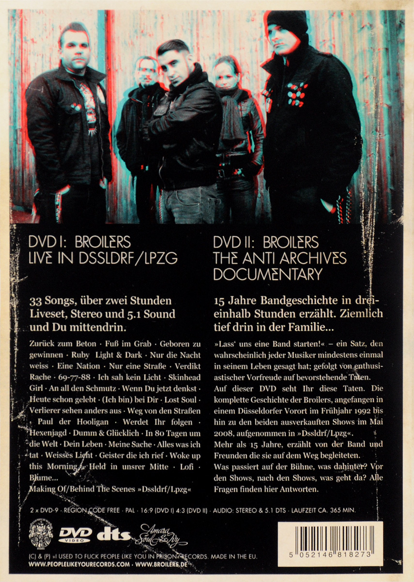 Broilers.  The Anti Archives (2 DVD) Warner Music
