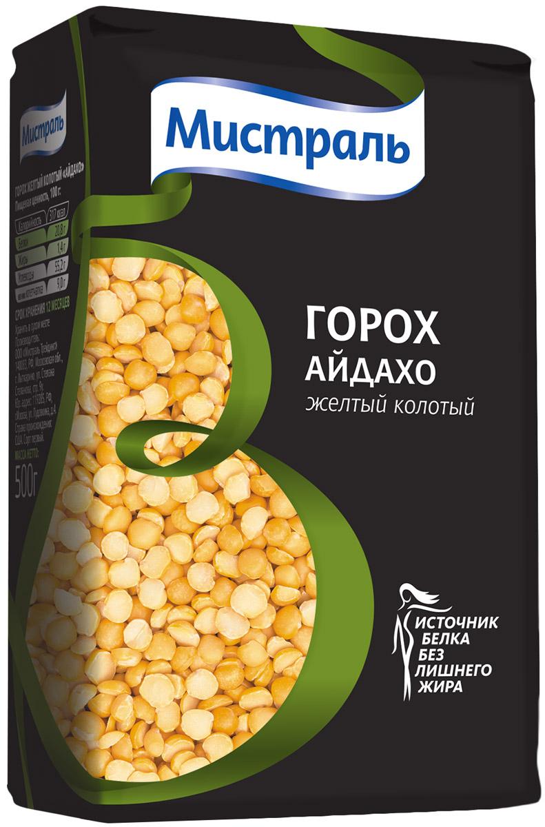 Мистраль Горох шлифованный желтый колотый Айдахо, 500 г12135Горох - самый популярный в России представитель бобовых. Его любят за нежную текстуру и простоту приготовления. К тому же горох богат растительным белком, который по набору аминокислот является отличной заменой животному белку. Горох Мистраль не требует замачивания и быстро разваривается.Горох Айдахо используется для приготовления густых супов и каш.
