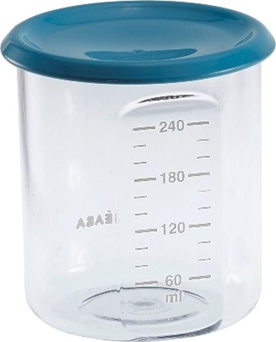 Beaba Контейнер для детского питания Maxi Portion Tritan Blue 240 мл